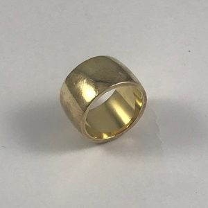 Vintage Chunky 18k Gold Over Sterling Silver Ring